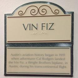 Vin Fiz Placard
