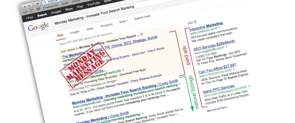 Monday Marketing - SEO versus SEM
